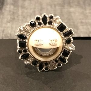 Chanel 2016 Crystal Smiley Emoji Ring